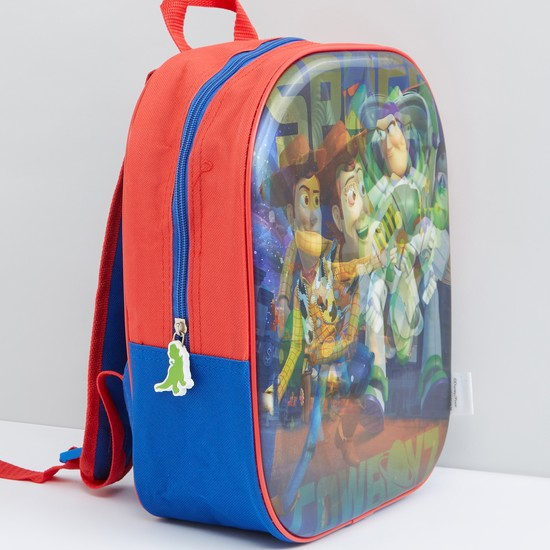 Toy Story Printed 3D Backpack with Zip Closure and Adjustable Straps