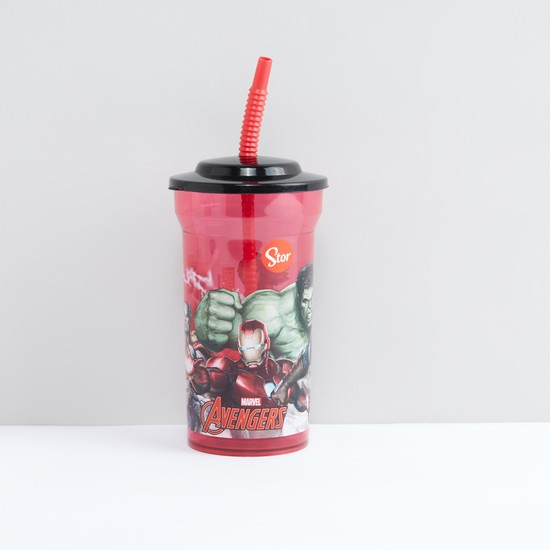 Avengers Printed Sipper Cup with Straw