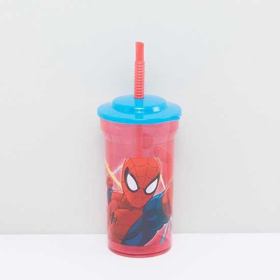 Spider-Man Printed Sipper Cup with Straw