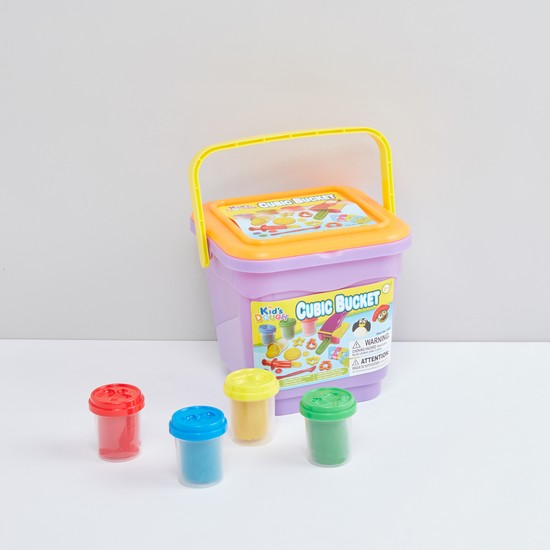 Kids Dough Cubic Bucket Playset