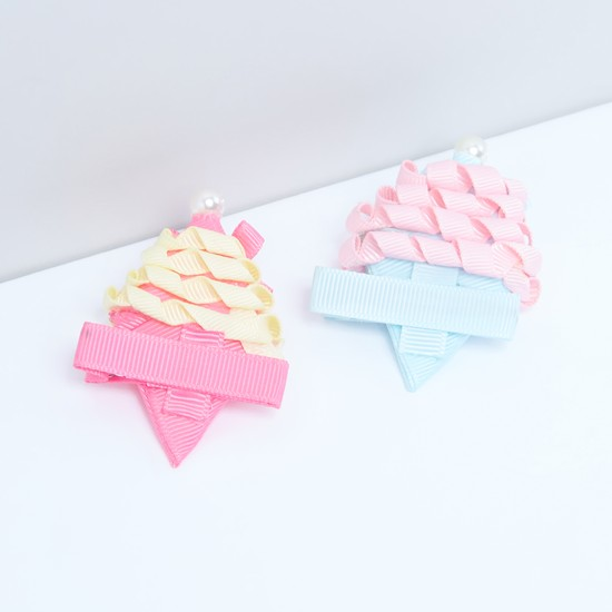 Pearl and Bow Detail Hair Pin - Set of 2