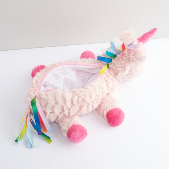 Plush Unicorn Pencil Case with Zip Closure