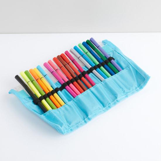 طقم أقلام تلوين متنوعة