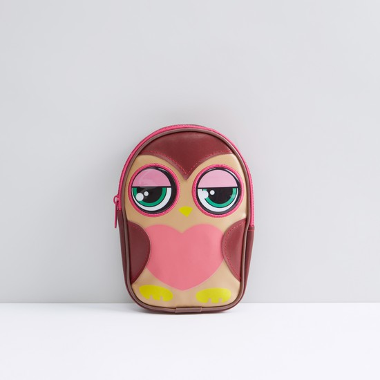 Owl Shaped Pencil Case with Zip Closure