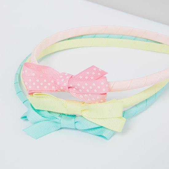 Bow Detail Hair Band - Set of 3