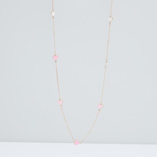Metallic Necklace with Lobster Clasp
