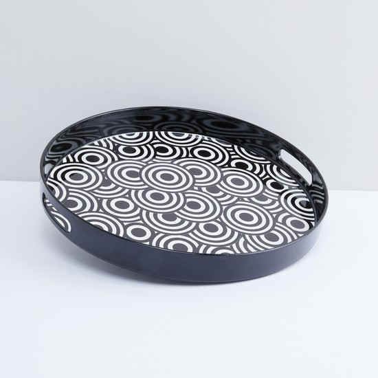 Printed Serving Tray with Cut Out Handles