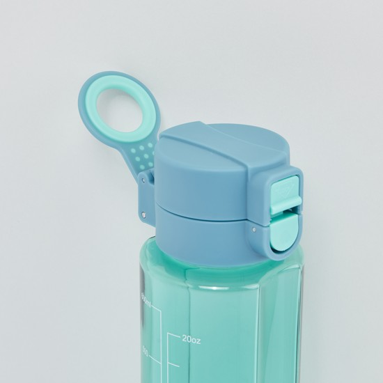 Cylindrical Water Bottle with Spring Lid - 650 ml