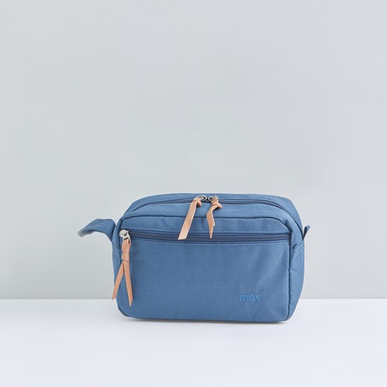 Multi-Compartment Travel Pouch with Zip Closure