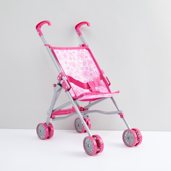 Printed Stroller with Rolling Wheels