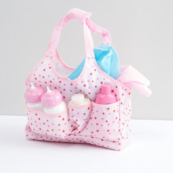 Printed 7-Piece Doll Caring Bag Playset