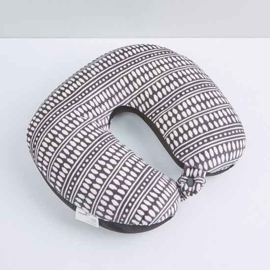 Printed Neck Pillow with Button Closure