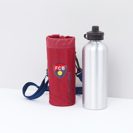 FC Barcelona Printed Water Bottle Cover with Bottle
