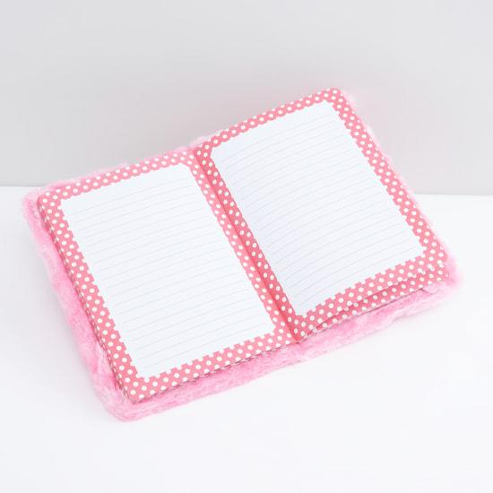 دفتر مذكرات بحجم A5 وغلاف قطيفة وتطريز بومة