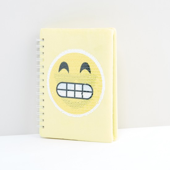 Sequin Detail Face Changing Spiral Bound A5 Diary