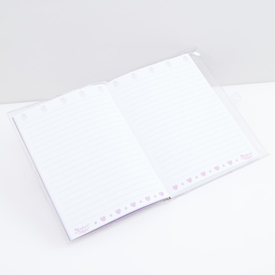 Printed A5 Single Ruled Notebook with Lock