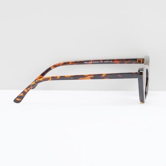 نظارة شمسية عين قطة بإطار كامل وطبعات