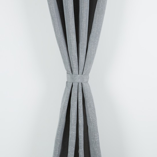 Textured Curtain Pair with Tieback