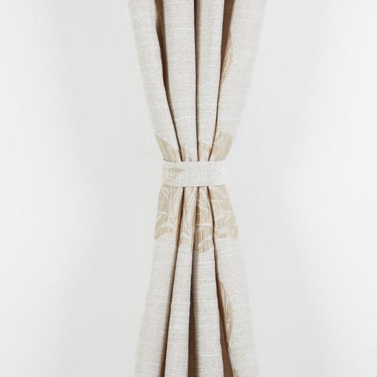 Printed Curtain Pair with Tieback
