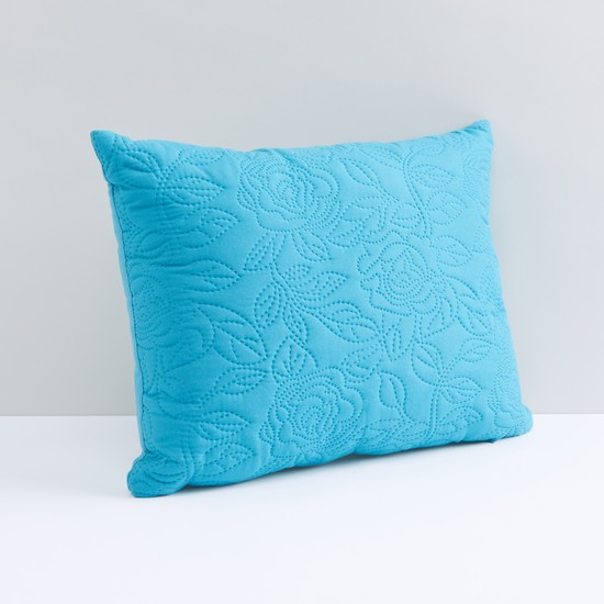 Stitch Detail Filled Cushion with Zip Closure