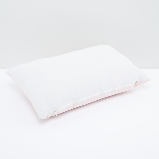 Embroidered Filled Cushion with Zip Closure