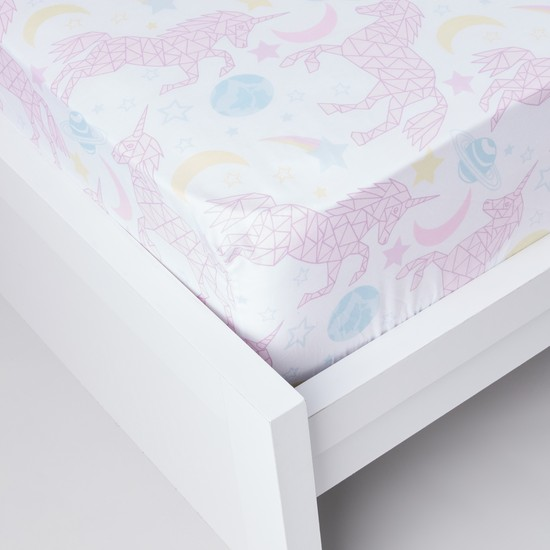 Printed 3-Piece Fitted Sheet Set- 150x200x25 cms