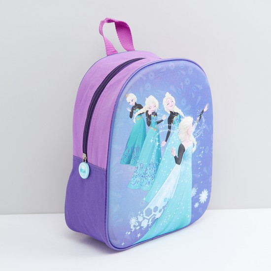Princess Printed Backpack with Zip Closure and Adjustable Straps