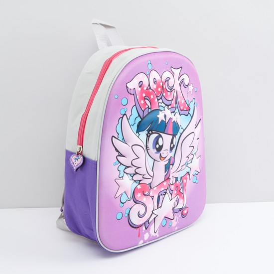 My Little Pony Printed Backpack with Zip Closure