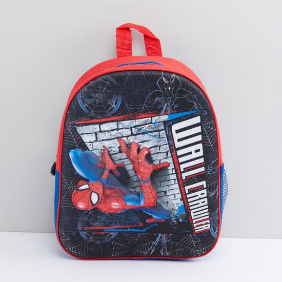 Spider-Man Printed Backpack with Zip Closure