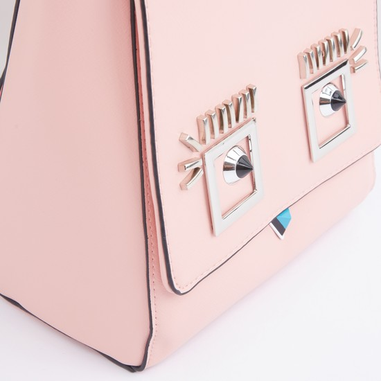 Metallic Detail Backpack with Magnetic Snap Closure