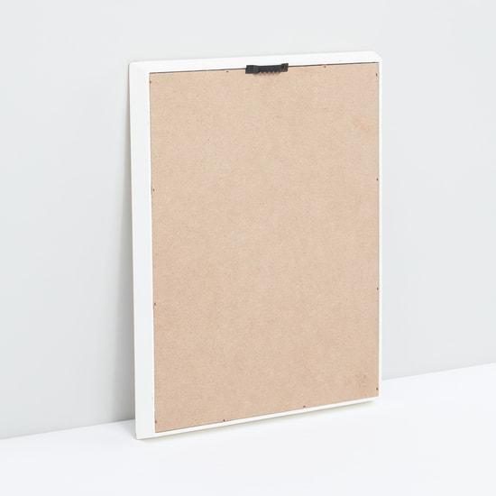 Text Printed Rectangular Wall Decor