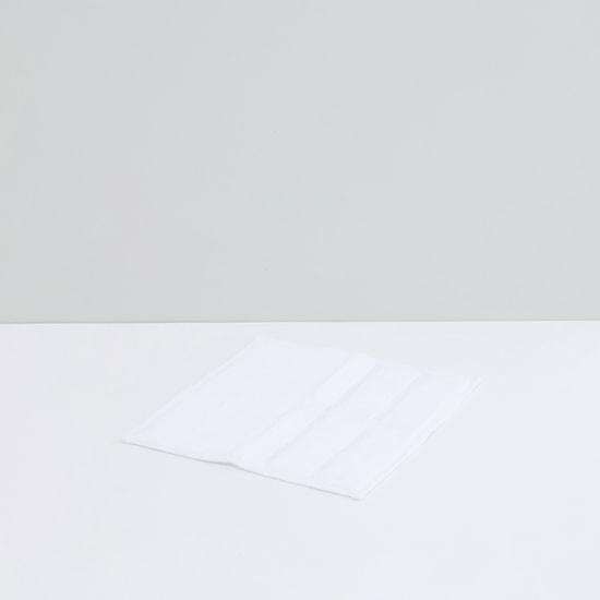 منشفة وجه مربعة بارزة الملمس - مجموعة من 4