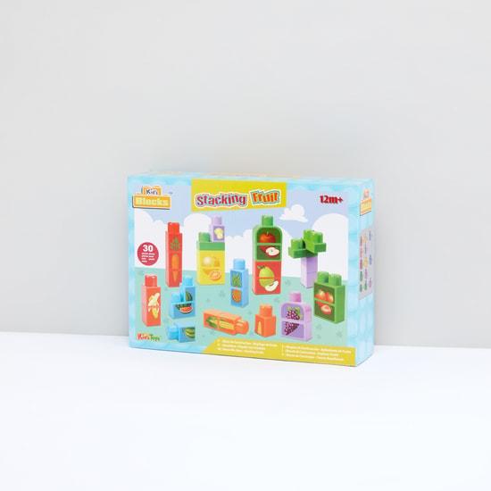 طقم لعبة مكعبات 30 قطعة ترتيب الفاكهة