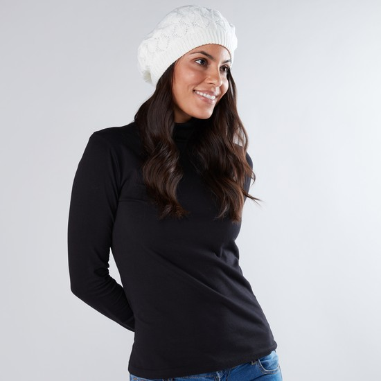 قبعة بيريه - طقم من قطعتين