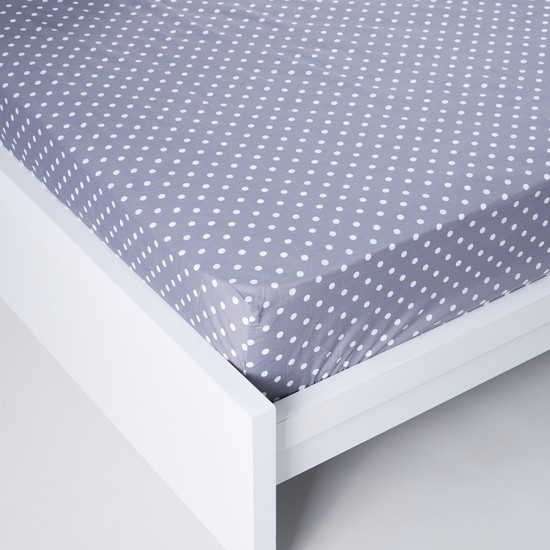 Polka Dot Printed Fitted Sheet