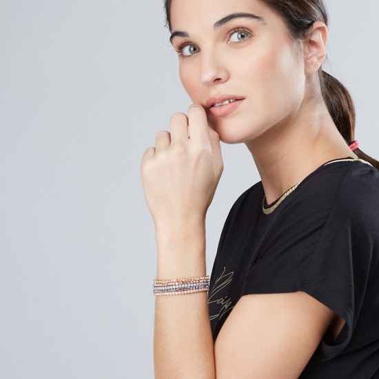 Studded Metallic Bracelet - Set of 5