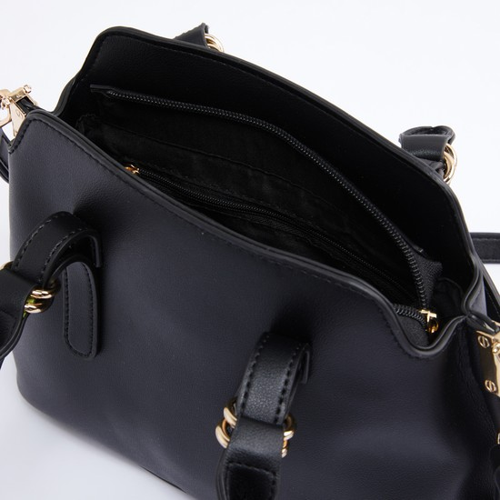 Crossbody Bag with Zip Closure and Detachable Strap
