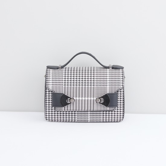Satchel Bag with Zip and Magnetic Snap Closure