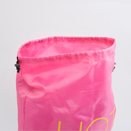 Printed Laundry Hamper with Drawstring Closure