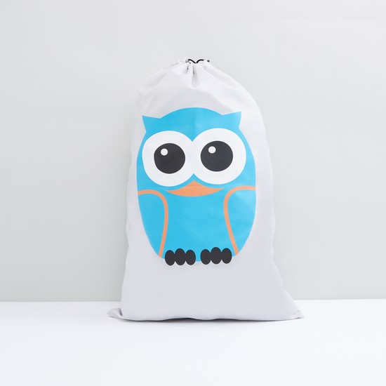 Spring Printed Laundry Hamper with Drawstring