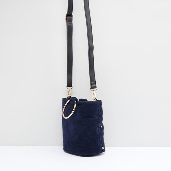 Studded Crossbody Bag with Adjustable Strap