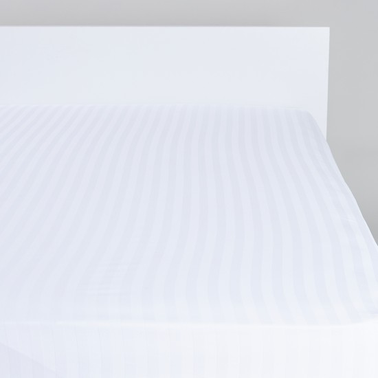 Striped Luxury Fitted Sheet - 180x200x25 cms