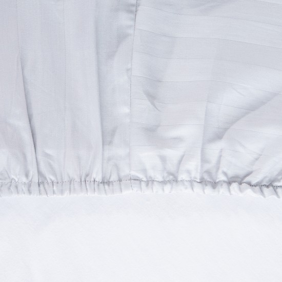 Striped Fitted Sheet- 180x200x25 cms