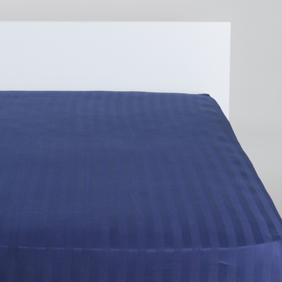 Striped Fitted Sheet with Elasticised Corners- 180x200x25 cms