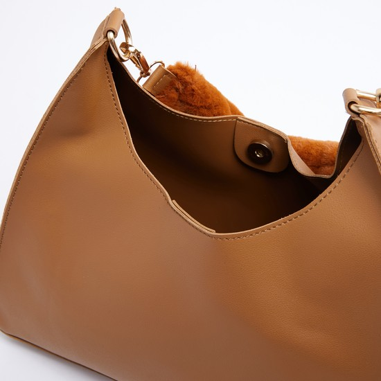 Stitch Detail Handbag with Magnetic Snap Closure