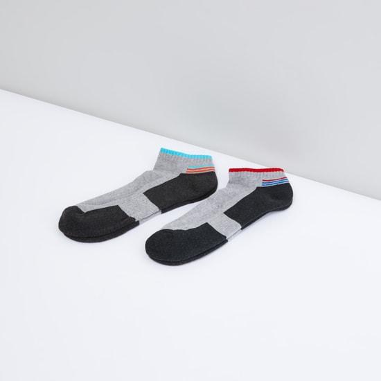 Set of 2 - Printed Ankle Length Socks