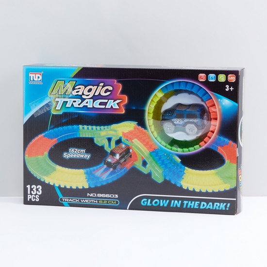 Magic Track Glow in the Dark Playset with Toy Car