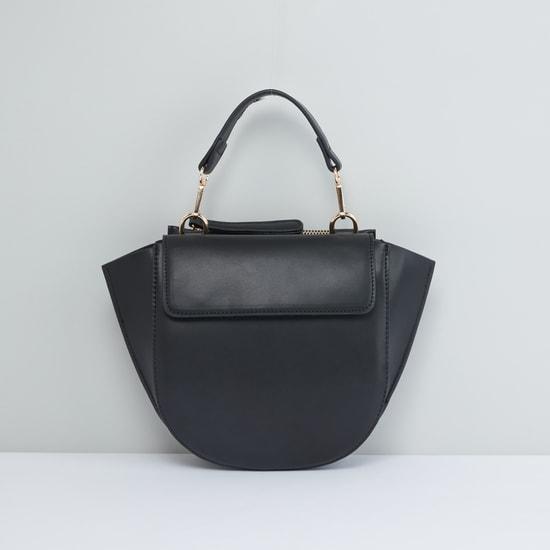 Multi-Compartment Crossbody Bag with Detachable Strap