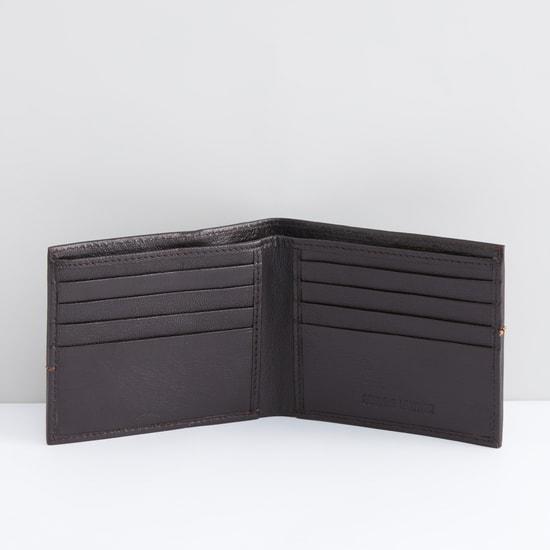 Stitch Detail Bi-Fold Wallet with Multiple Pockets