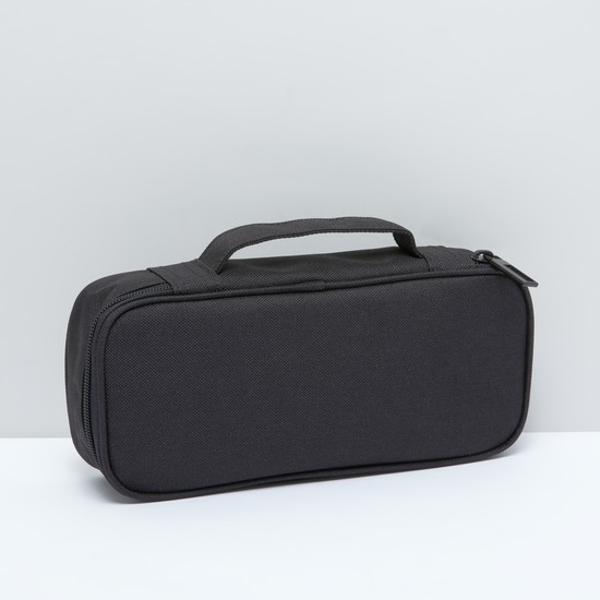 Textured Storage Bag with Zip Closure and Top Handle